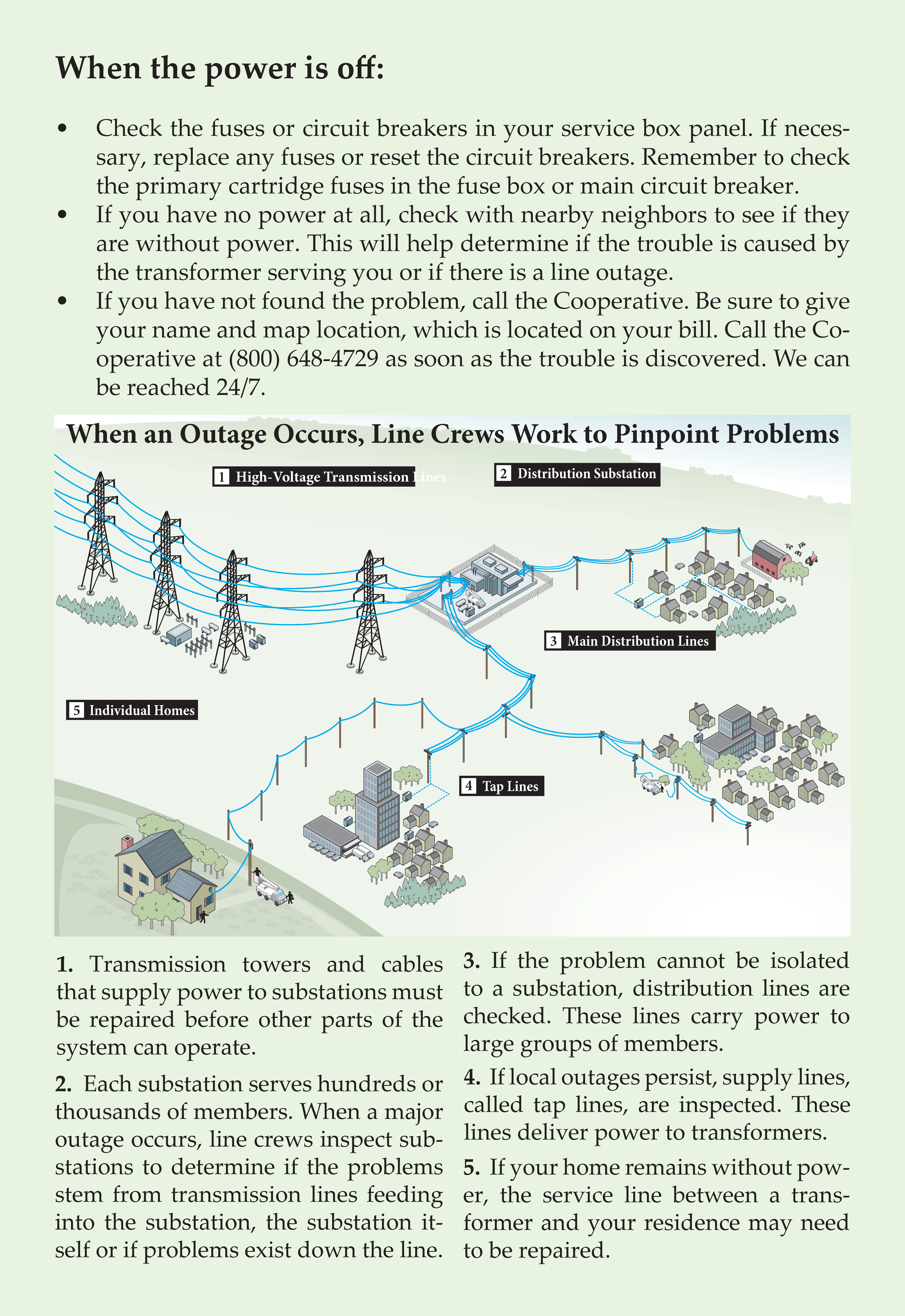 Outage process and causes
